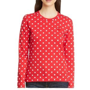 Comme des Garcons Play Polka Dot Shirt Small